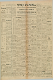 "Ajencja Wschodnia. Codzienne Wiadomości Ekonomiczne = Agence Télégraphique de l'Est = Telegraphenagentur ""Der Ostdienst"" = Eastern Telegraphic Agency. R.10, nr 186 (16 sierpnia 1930)"