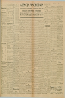 "Ajencja Wschodnia. Codzienne Wiadomości Ekonomiczne = Agence Télégraphique de l'Est = Telegraphenagentur ""Der Ostdienst"" = Eastern Telegraphic Agency. R.10, nr 190 (21 sierpnia 1930)"