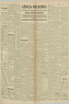 "Ajencja Wschodnia. Codzienne Wiadomości Ekonomiczne = Agence Télégraphique de l'Est = Telegraphenagentur ""Der Ostdienst"" = Eastern Telegraphic Agency. R.10, nr 291 (19 grudnia 1930)"