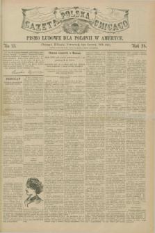 Gazeta Polska w Chicago : pismo ludowe dla Polonii w Ameryce. R.24, No. 23 (4 czerwca 1896)