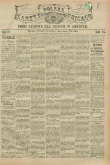 Gazeta Polska w Chicago : pismo ludowe dla Polonii w Ameryce. R.25, No. 12 (25 marca 1897)