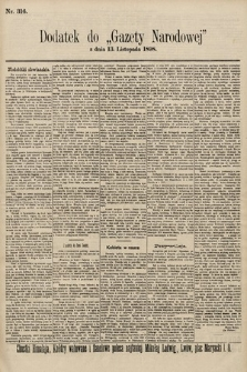 Gazeta Narodowa. 1898, nr316
