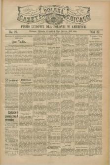 Gazeta Polska w Chicago : pismo ludowe dla Polonii w Ameryce. R.27, No. 26 (29 czerwca 1899)