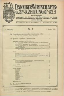 Danziger Wirtschaftszeitung. Jg.15, Nr. 2 (11 Januar 1935) + dod.