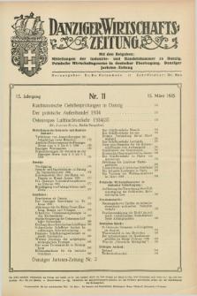 Danziger Wirtschaftszeitung. Jg.15, Nr. 11 (15 März 1935)