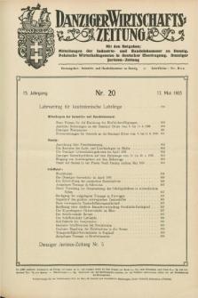 Danziger Wirtschaftszeitung. Jg.15, Nr. 20 (17 Mai 1935)