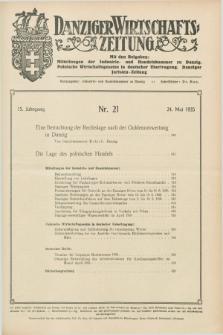 Danziger Wirtschaftszeitung. Jg.15, Nr. 21 (24 Mai 1935)