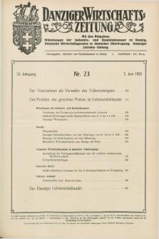 Danziger Wirtschaftszeitung. Jg.15, Nr. 23 (7 Juni 1935) + dod.