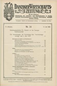 Danziger Wirtschaftszeitung. Jg.15, Nr. 24 (14 Juni 1935)