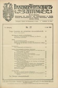 Danziger Wirtschaftszeitung. Jg.15, Nr. 27 (5 Juli 1935) + dod.