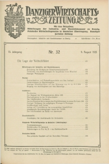 Danziger Wirtschaftszeitung. Jg.15, Nr. 32 (9 August 1935)