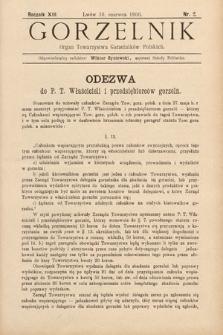 Gorzelnik : organ Towarzystwa Gorzelników Polskich we Lwowie. R. 13, 1900, nr2