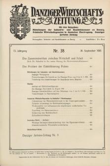 Danziger Wirtschaftszeitung. Jg.15, Nr. 38 (20 September 1935)