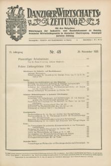 Danziger Wirtschaftszeitung. Jg.15, Nr. 48 (29 November 1935)