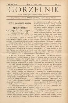 Gorzelnik : organ Towarzystwa Gorzelników Polskich we Lwowie. R. 13, 1900, nr3