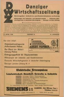 Danziger Wirtschaftszeitung. Jg.16, Nr. 16 (17 April 1936) + wkładka