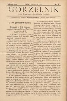 Gorzelnik : organ Towarzystwa Gorzelników Polskich we Lwowie. R. 13, 1900, nr4