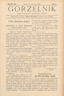 Gorzelnik : organ Towarzystwa Gorzelników Polskich we Lwowie. R. 13, 1900, nr5