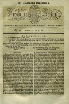 Breslauer Zeitung : mit allerhöchster Bewilligung. 1832, Nro. 155 (5 Juli) + dod.