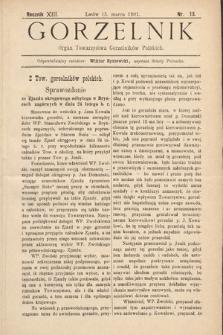 Gorzelnik : organ Towarzystwa Gorzelników Polskich we Lwowie. R. 13, 1901, nr13