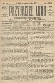 Przyjaciel Ludu : organ Polskiego Stronnictwa Ludowego. 1910, nr44