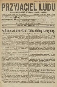 Przyjaciel Ludu : organ Polskiego Stronnictwa Ludowego. 1922, nr15