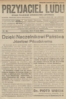 Przyjaciel Ludu : organ Polskiego Stronnictwa Ludowego. 1922, nr28