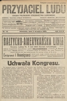 Przyjaciel Ludu : organ Polskiego Stronnictwa Ludowego. 1922, nr36