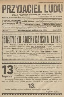 Przyjaciel Ludu : organ Polskiego Stronnictwa Ludowego. 1922, nr41