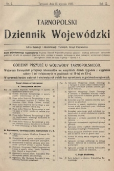 Tarnopolski Dziennik Wojewódzki. 1929, nr2