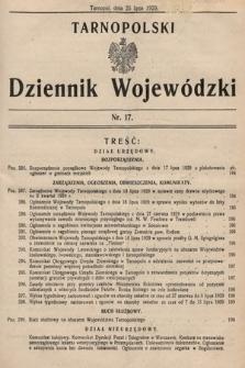 Tarnopolski Dziennik Wojewódzki. 1929, nr17