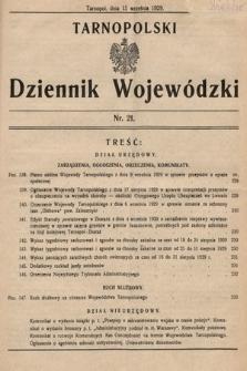 Tarnopolski Dziennik Wojewódzki. 1929, nr21