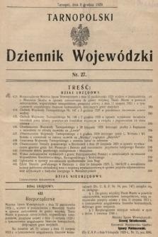 Tarnopolski Dziennik Wojewódzki. 1929, nr27