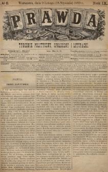 Prawda : tygodnik polityczny, społeczny i literacki. 1889, nr6