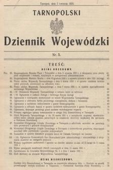 Tarnopolski Dziennik Wojewódzki. 1931, nr5