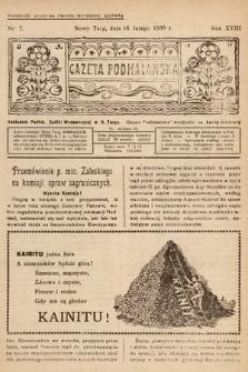 Gazeta Podhalańska. 1930, nr7