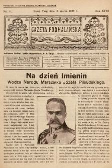 Gazeta Podhalańska. 1930, nr11