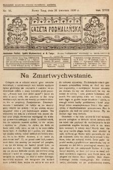 Gazeta Podhalańska. 1930, nr16