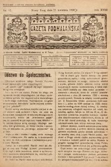 Gazeta Podhalańska. 1930, nr17