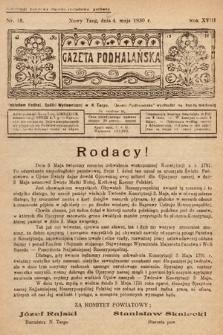 Gazeta Podhalańska. 1930, nr18