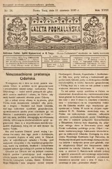 Gazeta Podhalańska. 1930, nr24
