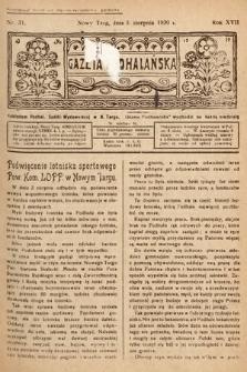 Gazeta Podhalańska. 1930, nr31