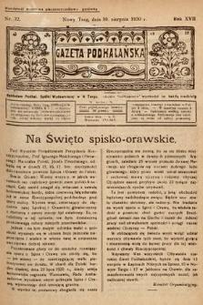 Gazeta Podhalańska. 1930, nr32