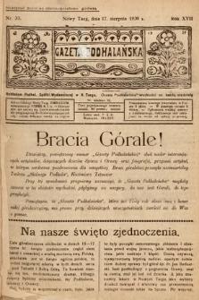 Gazeta Podhalańska. 1930, nr33