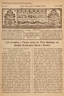 Gazeta Podhalańska. 1930, nr34