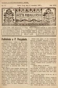 Gazeta Podhalańska. 1930, nr37