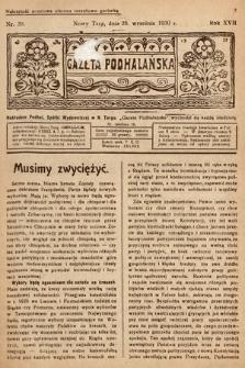Gazeta Podhalańska. 1930, nr39