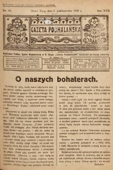 Gazeta Podhalańska. 1930, nr40