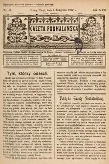Gazeta Podhalańska. 1930, nr44