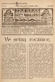 Gazeta Podhalańska. 1930, nr48
